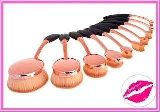 brochas de maquillaje de cepillo