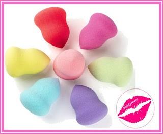 esponjas cosmeticas en forma de peras