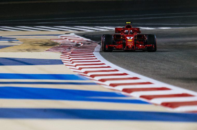 Raikkonen's Ferrari at Bahrain GP 2018