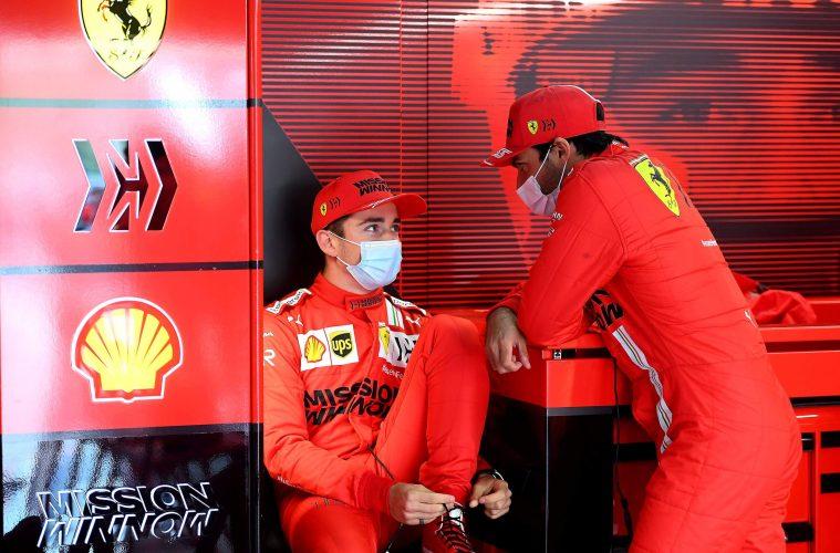 Carlos Sainz Charles Leclerc Ferrari 2021
