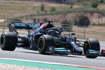 Lewis Hamilton F1 Mercedes Portugal 2021 Race Winner