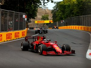 Charles Leclerc Scuderia Ferrari Azerbaijan GP 2021 Race
