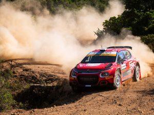 Mads Ostberg Rally Italia Sardegna Citroen C3 Rally2 2021 Puncture