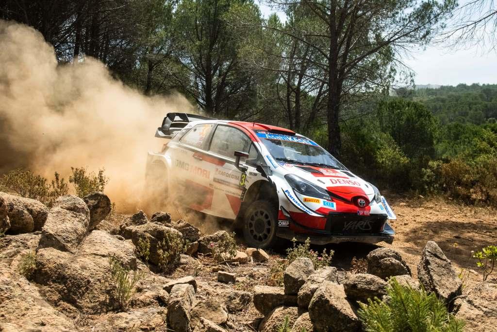 Elfyn Evans Toyota Yaris WRC Rally Italia Sardegna 2021 Day 2