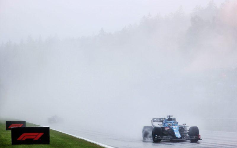 Alonso Spa race