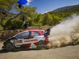 Kalle Rovanpera Toyota Yaris WRC Rally Acropolis 2021