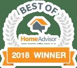 """2018 Winner of """"Best of HomeAdvisor"""" award"""