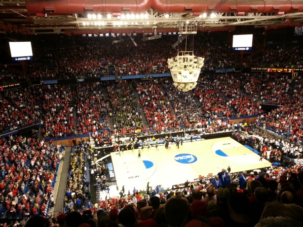 My nosebleed view for the 2nd and 3rd rounds at Rupp Arena last Spring