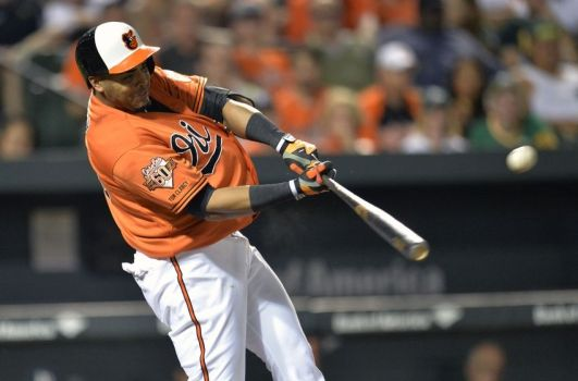Nelson Cruz was a bargain on a 1 year $8 million deal last year.  He's now headed to Seattle for $50+ million (photo courtesy of thebaltimorewire.com).