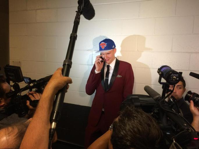 """""""Mom? It's me, Kristaps. They bought it. They think I can actually play. Haha I know right? I'll be home in a few years"""""""
