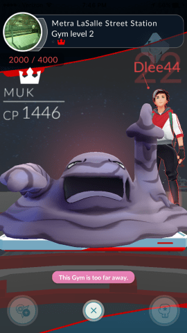 This dude's Muk just showed up in a gym I took down. Throwing up the middle finger a time me