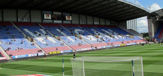 A general interior view of the DW Stadium, home of Wigan Athletic and Wigan Warriors