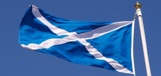 Scotland flag stock photo