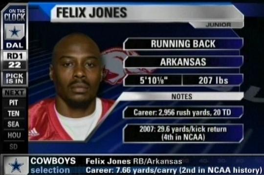 Image result for felix jones draft cowboys