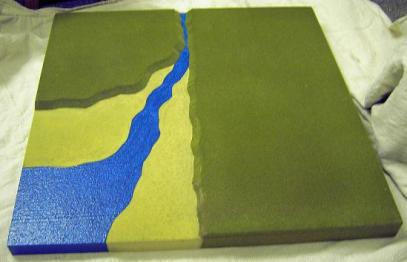 2CL6 - Stream estuary into sea / Corner coastline