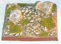 R00FB502 - 50mm square base (stoney / 2 rocks)