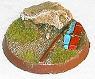 R00FB460 - 40mm round base (rock & shield)