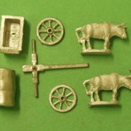 CM11 Roman Supply Wagon, 2 Bullocks, driver