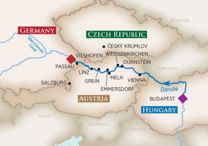 Itinerary of the Sciandri Family Wine Cruise