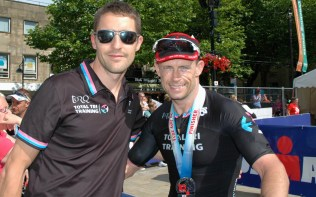 Chris Standidge and Tony Cullen after he finished