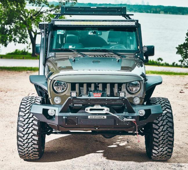 Go Rhino: BRJ40 Modular Front Bumper for '07-'16 Wrangler JK