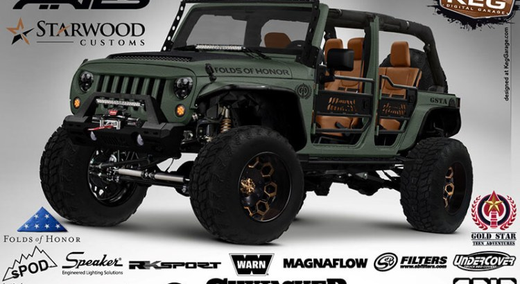 ARIES Jeep Build to Benefit Folds of Honor and Gold Star Teen Adventure