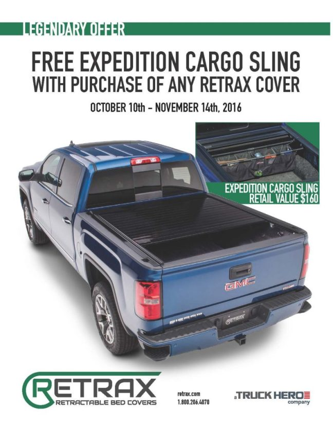 Retrax Promotion: Get a Free Expedition Cargo Sling