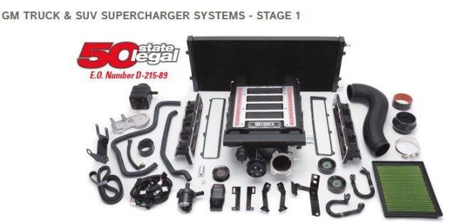 Edelbrock (1566): Stage 1 Supercharger System for '14-'16 Silverado/Sierra 1500