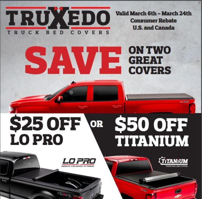 TruXedo: $25 Off Lo Pro or $50 Off Titanium