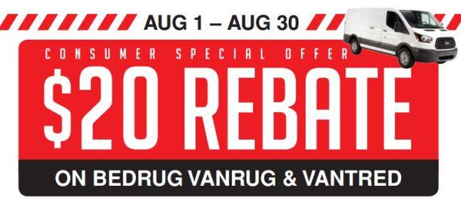 BedRug: $20 Rebate on VanRug and VanTred