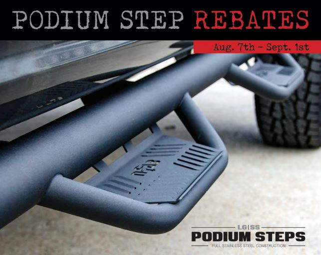 N-FAB Podium Step Rebate