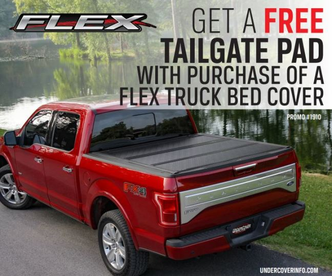 Truck Bed Pad >> Undercover Get A Free Tailgate Pad With Flex Truck Bed