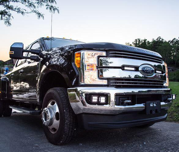 RIGID Industries Single Fog Light Kit for Ford Super Duty