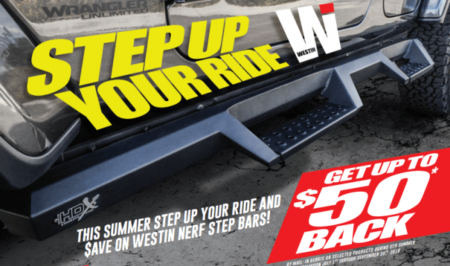 WESTiN Automotive: Get Up to $50 Back on Select Step Bars