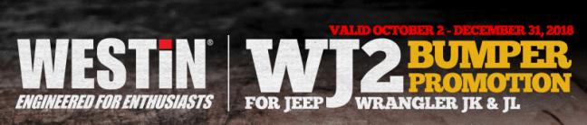 WESTiN Automotive: WJ2 Bumper Promotion for Jeep Wrangler JK and JL