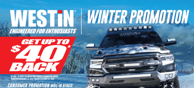 WESTiN Automotive: Get Up to $40 Back During Winter Promotion