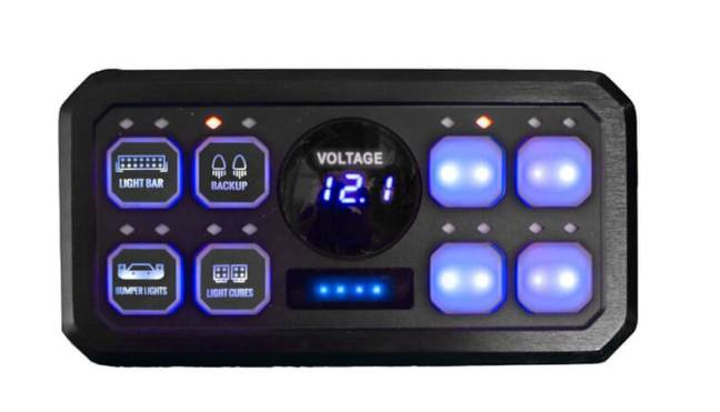 Race Sport Lighting 8-Button Digital Switch Panel RS8BASP