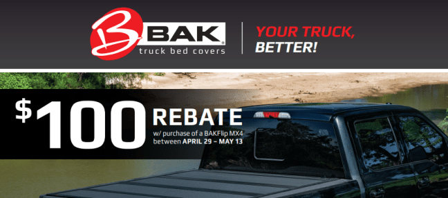 BAK Industries: Get $100 Back on BAKFlip MX4 Truck Bed Cover