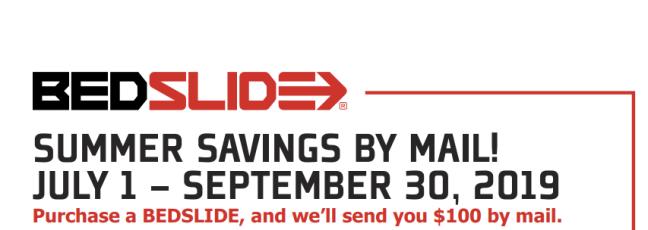 BEDSLIDE: Get $100 Back on BEDSLIDE