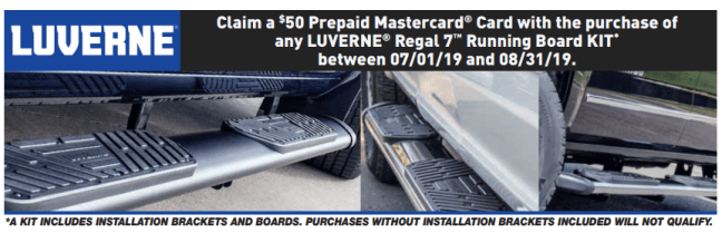 LUVERNE: Get $50 Back on Regal 7™ Oval Side Step Kits