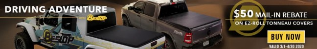 """Bestop: Get $50 Back on EZ-Roll Tonneau Covers During """"Driving Adventure"""" Event"""