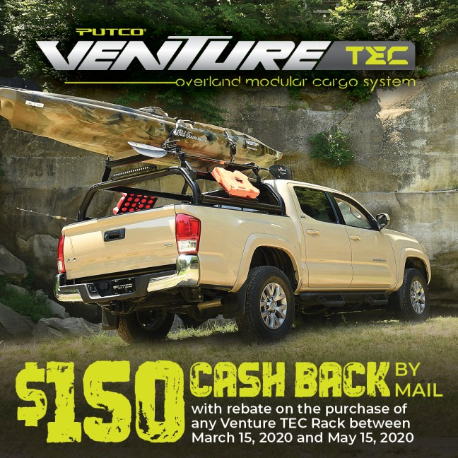 Putco: Get $150 Back on the VentureTEC™ Rack System