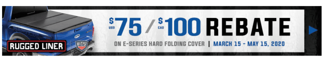 Rugged Liner: Get US$75 or CA$100 Back on E-Series Hard Folding Truck Bed Covers