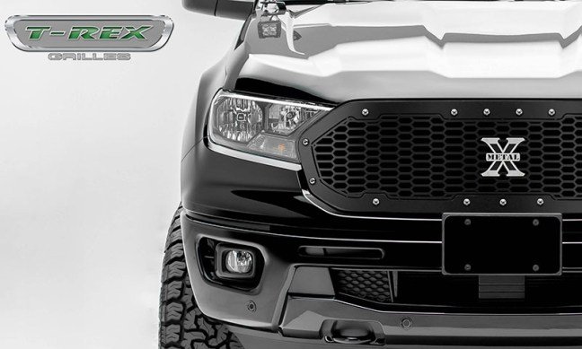 T-Rex Grilles Laser X Grille with Chrome Studs for 19-20 Ford Ranger