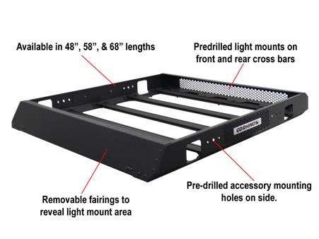 Go Rhino (5934048T, 5934058T, 5934068T):  SRM400 Series Roof Racks