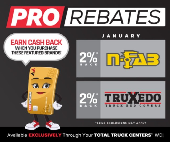 PRO Rebates: January Featured Brands