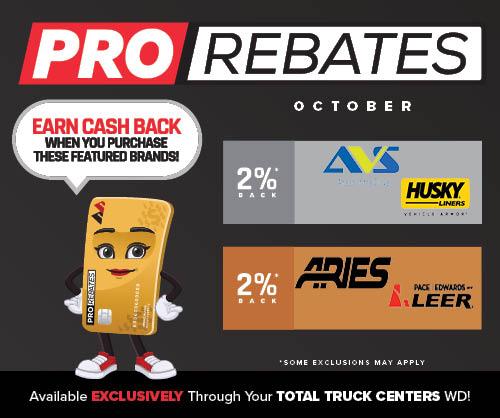 PRO Rebates: October Featured Brands