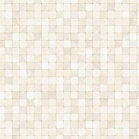 cream textured tiles wallpaper