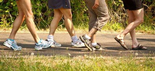 legs on a hike