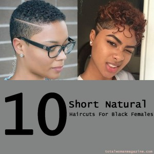 short natural hair for black females